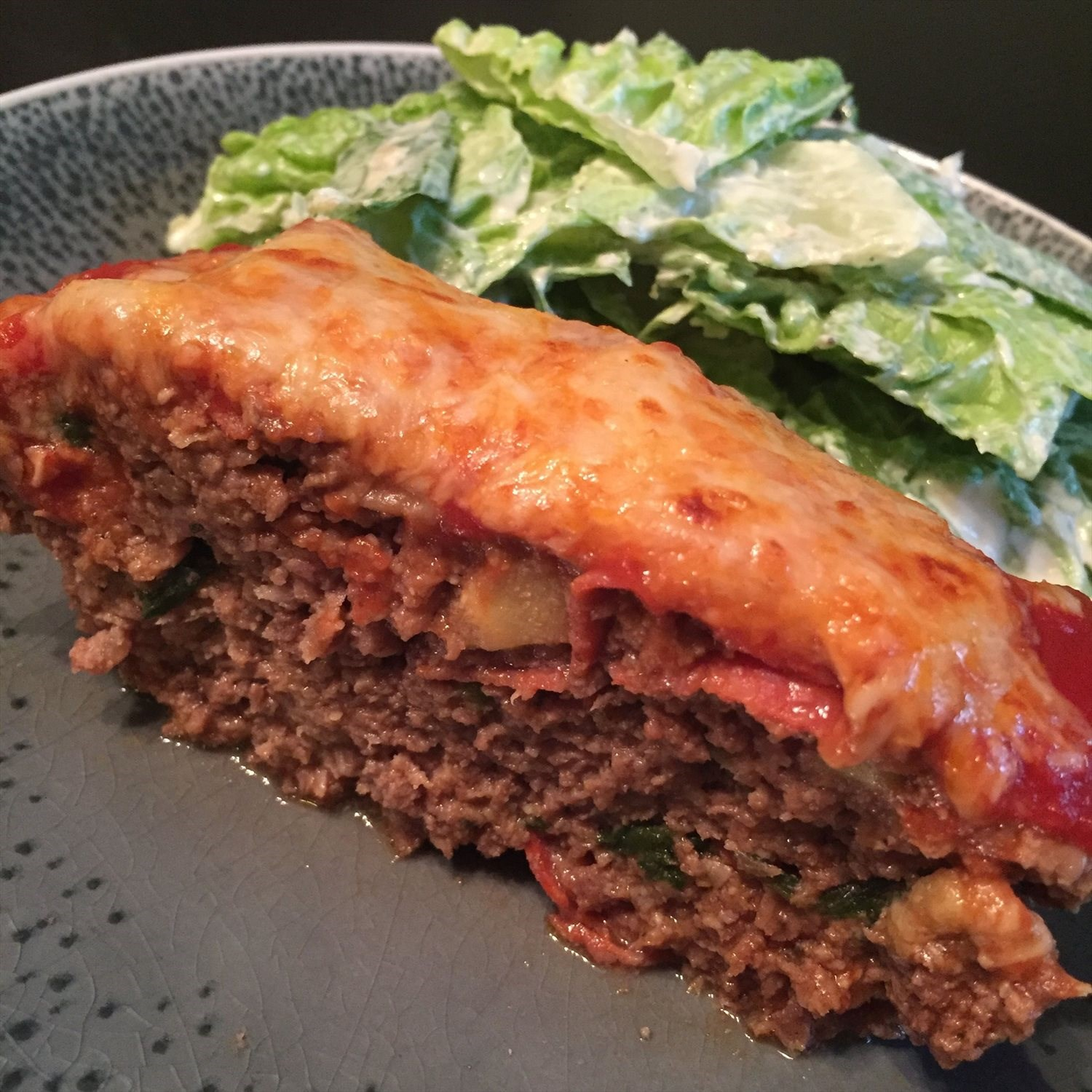 Spinach Artichoke Pepperoni Meatloaf