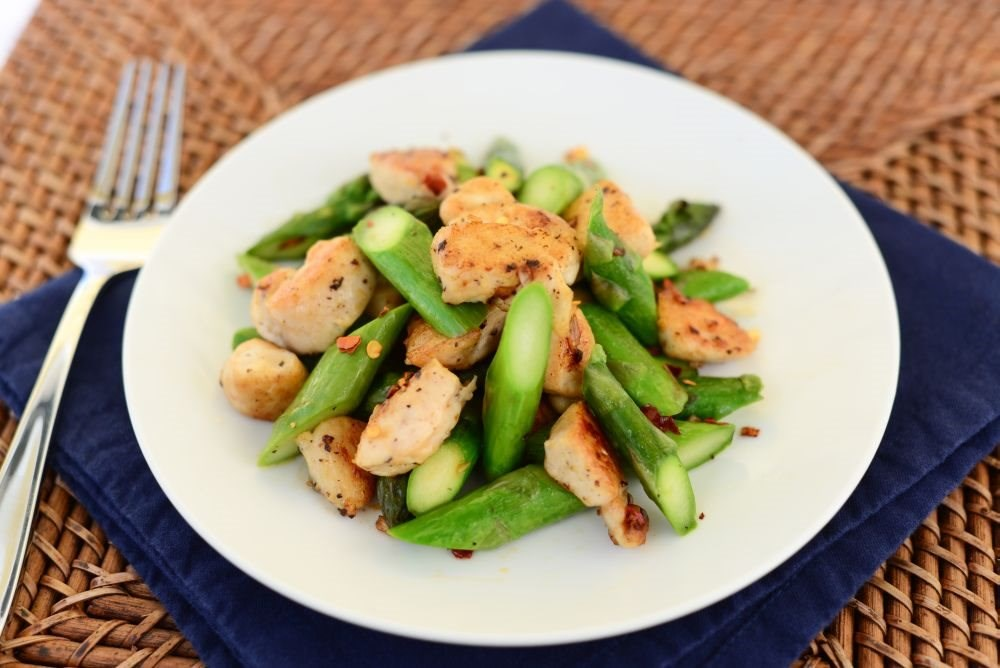 Asparagus and Chicken Skillet