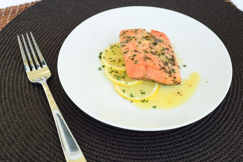 Lemon Garlic Roasted Salmon