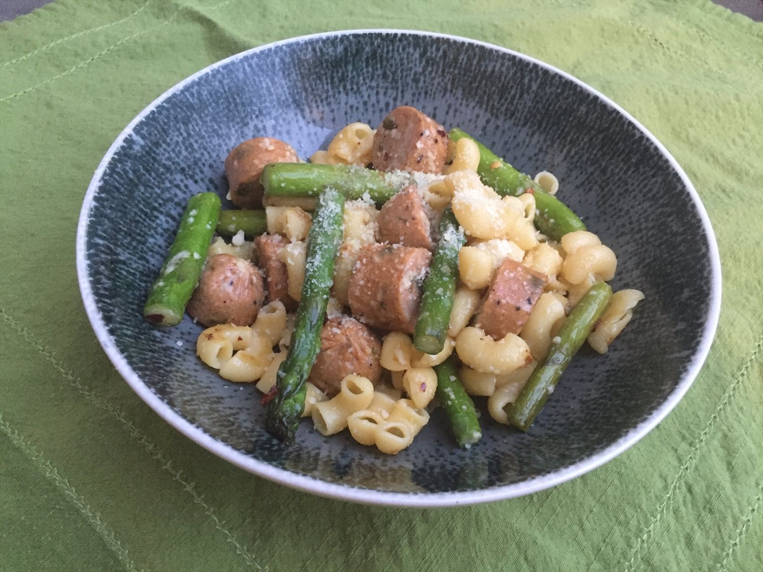 Sausage and Asparagus Pasta