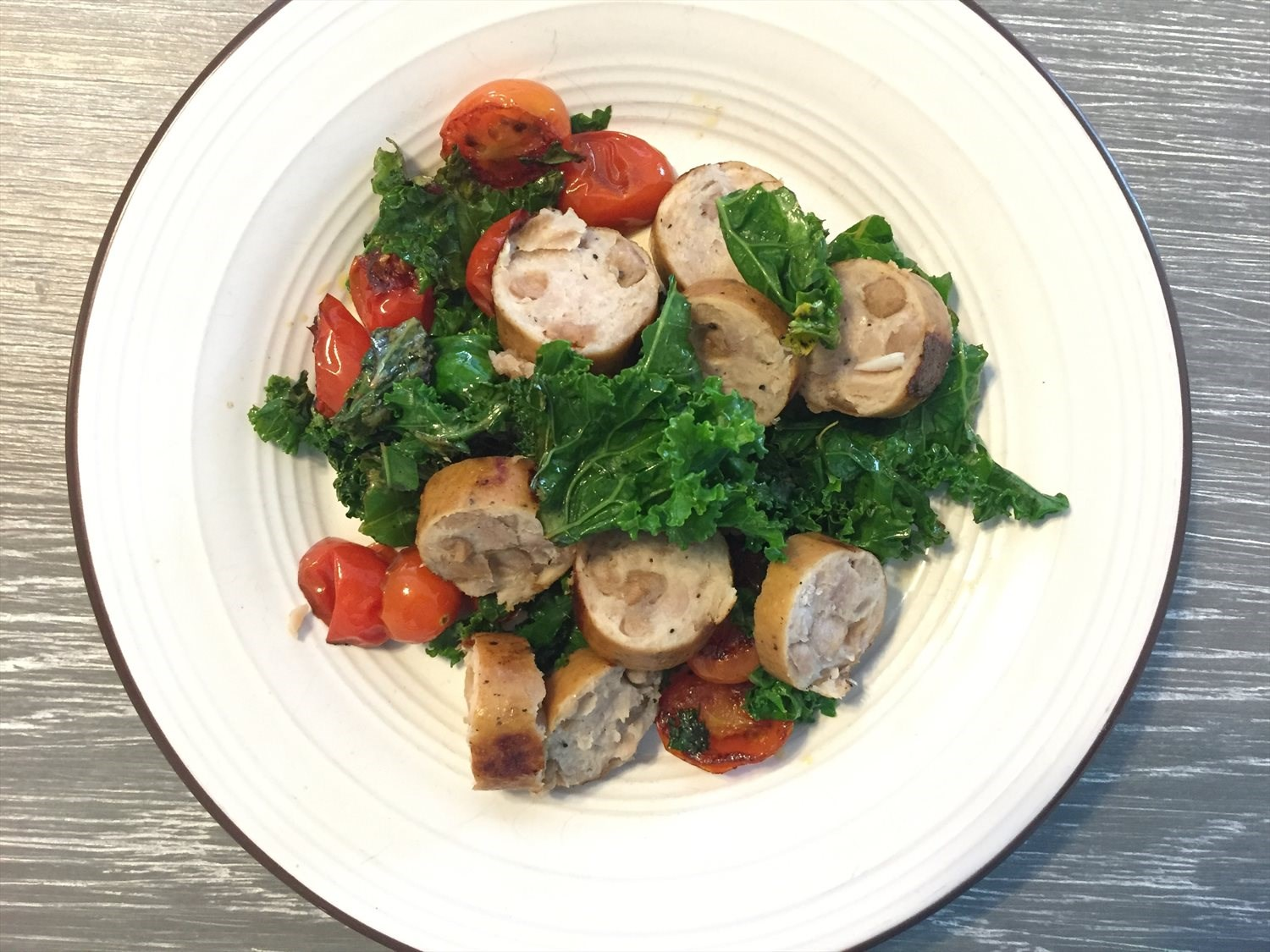 Quick and Easy Sausage and Kale Skillet