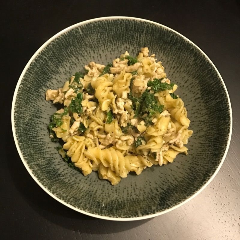 Pesto Turkey and Kale Pasta