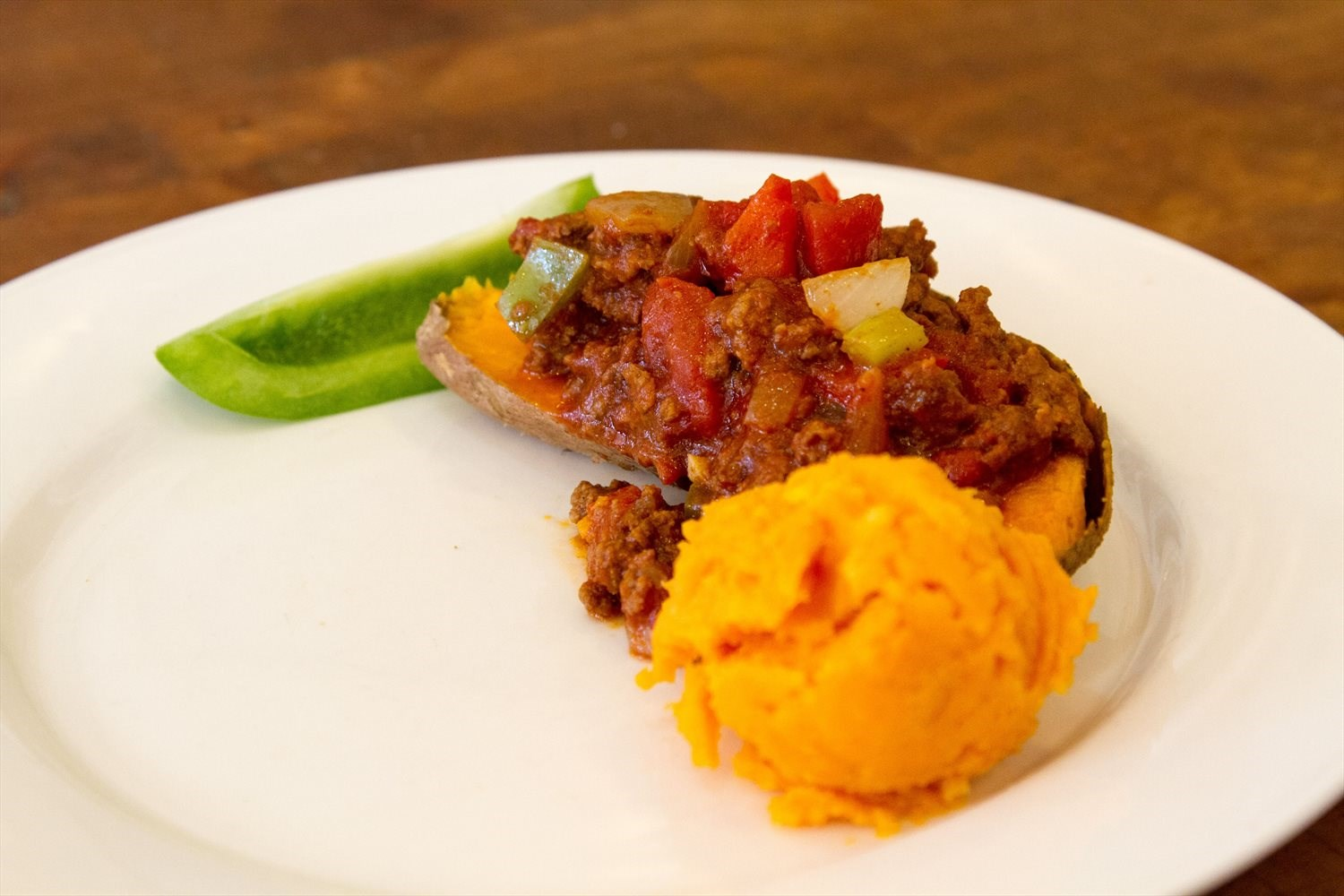 Sloppy Joe Sweet Potato Boats