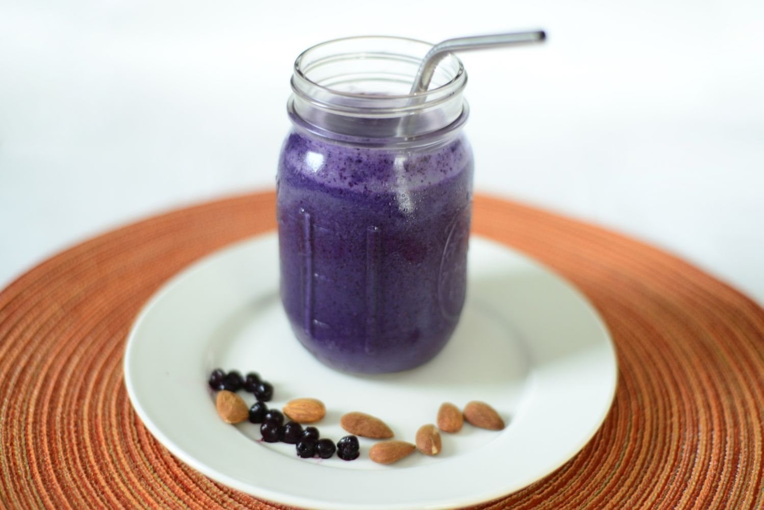 Blueberry Almond Butter Protein Smoothie
