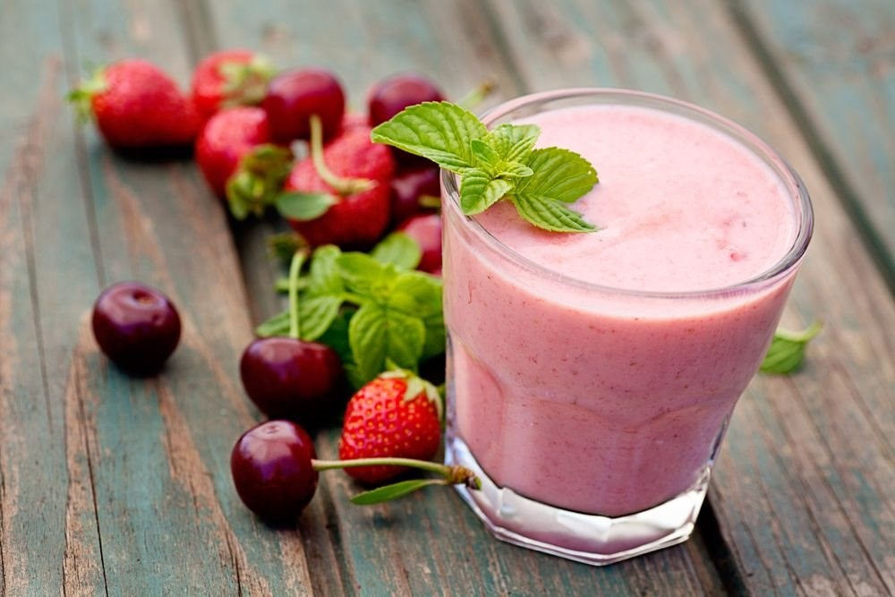 Cherry Berry Protein Smoothie