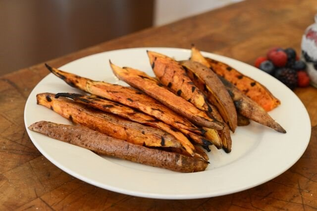 Honey Butter Grilled Sweet Potatoes